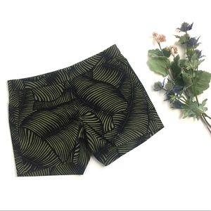 Ann Taylor Palm Leaf Print Shorts